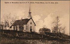 Église et Monastère des Oblats, Pointe Bleue Chute Montmorency, Lac Saint Jean, Chateau Frontenac, Le Petit Champlain, Hui, Temple, Saints, Canada, Painting