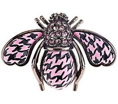 Joan Rivers Houndstooth Bee Pin