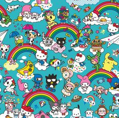 Sanrio x Tokidoki Sanrio Wallpaper, Hello Kitty Wallpaper, Hello Kitty Art, Hello Kitty Images, Kawaii Chibi, Kawaii Art, Sanrio Characters, Cute Characters, Hello Sanrio