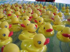 baby shower game- Lucky Ducky.  Have one Duck with a start on the bottom.  Every guest gets to pick a duck, the one who picks the duck with the star gets the prize.  The new mommy gets a baby pool and a bajillion rubber duckies.  Who DOESN'T need a bajillion rubber duckies?  Don't forget a towel to dry the duckies with!
