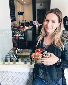 Superfood porridge bar at Beaming Breakfast Criminals - Ksenia Shira Lova