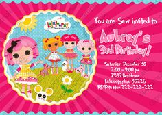 Lalaloopsy Birthday Invitation - Lalaloopsy Invitation - Digital File