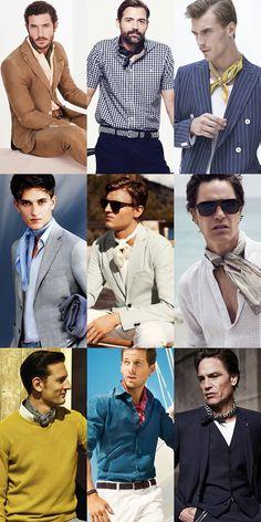 Men's 2014 Spring/Summer Accessory Trends: Neckerchiefs Lookbook Inspiration