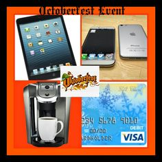 Octoberfest Big Prizes Event - Mom 'N  Daughter Savings This has 4 Winners! IPhone 6, IPad, Keurig Coffee Maker, $250! (10/27)