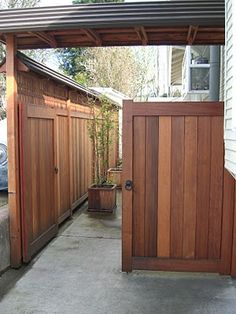 MacGregor Construction: Japanese Style Driveway Gates and Fence, Berkeley CA