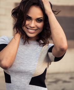 Monica Raymund Actress on Chicago Fire Bryan Whitely 2013 Styling: Michael Favia with FORD Hair: Frances Tsalas with FACTOR Makeup: Jen Brown