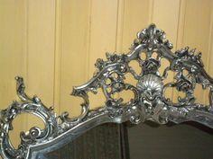 Foglia d'argento su cornice