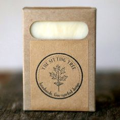 Full Moon Soap  Unscented Handmade Bar Soap  All by thesittingtree, $6.00     I Like the logo sticker.