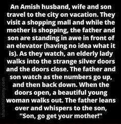 Amish Elevator - https://shareitsfunny.com/amish-elevator/ - Funny Jokes on Share Its Funny #funnyjokes #amishelevatorjoke