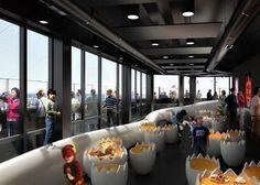 Le Nid, bar panoramique au 32ème étage, Tour Bretagne - Jean Jullien | Nantes Tourisme