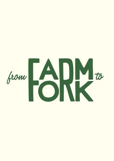 European Design - From Farm to Fork. This would be a neat t-shirt.