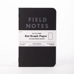 Field Notes Brand: Pitch Black Dot-Graph Paper Memo Books, 3 Pack #MarthaStewartAmericanMade #americanmadeebaysweeps