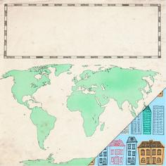 Lámina 30,5x30,5 de la colección #escraptrotamundos de estampado mapa mundi y ciudad Diagram, Scrapbook, World, Art, Maps, Cities, The World, Craft Art, Kunst