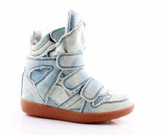 A girl can dream!     Isabel Marant High Top Denim Tie Dye Sneakers