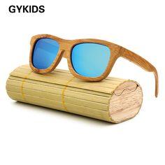 fashion Products Men Women Glass Bamboo Sunglasses au Retro Vintage Wood Lens Wooden Frame Handmade