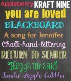 favorite chalkboard fonts