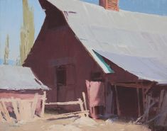 David Dibble: Things We've Handed Down - Exhibitions - Trailside Galleries Abstract Landscape, Landscape Paintings, Barn Paintings, Art Studies, Master Studies, Automotive Art, Aesthetic Backgrounds, Western Art, Contemporary Artists