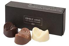 Edible Anus Dark Milk White Belgian Chocolate Gift Box