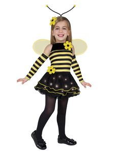 Create a buzz in this fun and festive illuminated girl's Bumble Bee costume! Bumble bees are said to signify good luck - no stingers and all honey.  		  		  			Shirt Prints Hoodie Tote Bag  		  			  				1. Choose Type  			Male Female  		  			  				2. Choose Size View Size Chart  			Small Medium Large X Large XX Large  		  			  		  			.