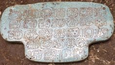 Puzzle of the Maya pendant: Large carved jade unearthed in southern Belize -- ScienceDaily   ❤ =^..^= ❤