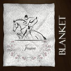 This Equestrian Style Blanket makes a wonderful gift for that Dressage, Hunter Jumper Rider or just plain Horse lover in the family.  Elegantly done with a touch of vintage.