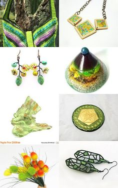 Green October 22 by Millie Ol on Etsy--Pinned with TreasuryPin.com