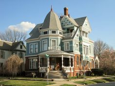 George H. Cox Victorian home in  McLean County, Illinois