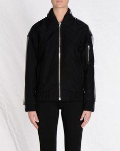 Martin Margiela jacket with tulle overlay.