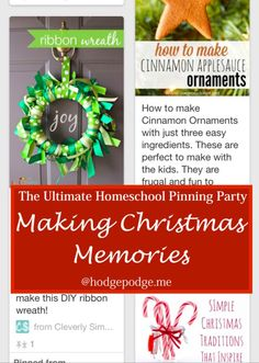 Making Christmas Memories at The Ultimate Homeschool Pinning Party