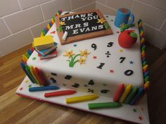School teacher cake