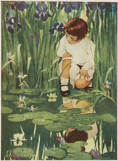 """The Way to Wonderland"" - Jessie Willcox Smith – United States illustrator famous for her work in magazines - Ladies Home Journal and her illustrations for children's books. Jessie Willcox Smith, Flower Fairies, Fairy Art, Children's Book Illustration, Book Illustrations, Faeries, Vintage Art, Illustrators, Fantasy Art"