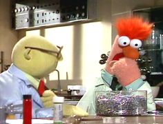 """Dr Bunsen Honeydew and Beeker from """"The Muppet Show"""". Jim Henson, Die Muppets, Beaker Muppets, Rita Coolidge, Muppets Most Wanted, The Ed Sullivan Show, Sesame Street Characters, Comedy, Fraggle Rock"""