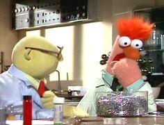 Dr. Bunsen Honeydew and Beaker:  The Muppets  #12daysofelizabethmckay  #elizabeth_mckay