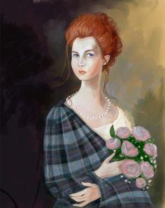 Outlander Ellen Fraser portrait (art by girlfrog) Outlander Show, Outlander Fan Art, Diana Gabaldon Outlander Series, Outlander Casting, Outlander Characters, Scottish Warrior, Dragonfly In Amber, Jamie And Claire