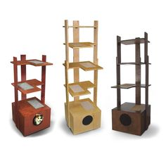 PurrfecTower Cat Tower from PurrfecTrends.  It would be more useful with sisal on the posts.