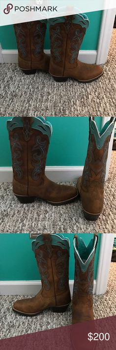 Justin cowgirl boots Never been worn , brand new Justin Boots Shoes Combat & Moto Boots