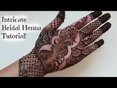 Intricate bridal henna tutorial | Henna Art by Aroosa - YouTube