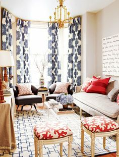 Love the patterns and choice of colours. A Victorian Rowhouse in Toronto  Style at Home