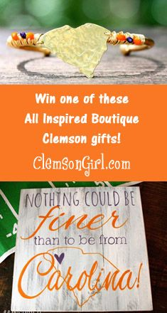Clemson Girl - Our fave Clemson gifts from All Inspired Boutique. Plus special offers for Clemson Girls and a GIVEAWAY!