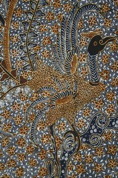 Beautiful handpainted Batik Tulung Agung African Textiles, African Fabric, Shibori, Chemistry Art, Chintz Fabric, Art Tribal, Indonesian Art, Batik Art, Batik Pattern