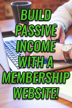 Want To Easily Earn Passive Income Online? Build Your Own Membership Website! Make Money Online, How To Make Money, Own Website, Build Your Own, Passive Income, Going To Work, Wealth, Garden Web, Make It Yourself