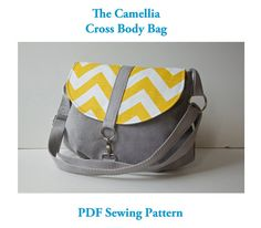 The Camellia Cross Body Bag PDF SEWING by BlueCallaPatterns, $10.00