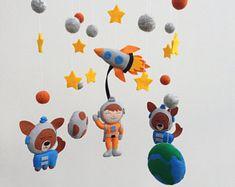 Baby Mobile Nursery Mobile Space Crib Mobile Boy Cot Mobile Felt Baby Mobile Planets, Galaxy Mobile Spaceship, Rocket Mobile