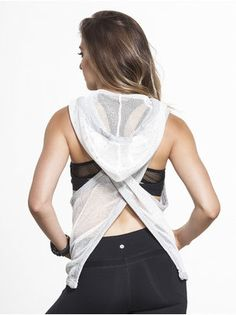 5a1bcefb985c Relax Open Back Mesh Vest in White by Vimmia from