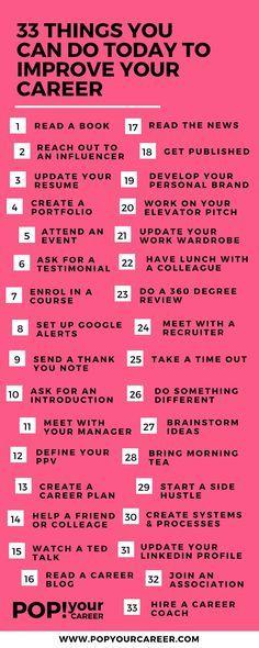 Easy ways to help move your career forward. // Career Advice & Ideas