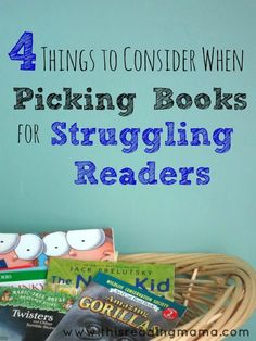 4 Things to Consider when Picking Books for Struggling Readers. These strategies will enhance the reading process. ELL students will be able to better understand the story or content that they are reading. Reading Resources, Reading Strategies, Reading Activities, Reading Skills, Reading Comprehension, Sensory Activities, Reading Process, Comprehension Activities, Reading Help