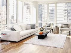 Modern Living Room in Minimalist New York Apartment from HGTV
