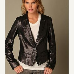 225256e2dc NEW Free People black subtle sequin blazer Jacket 6 168