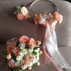 Gelin tacı- Gelin buketi- Damat çiçeği