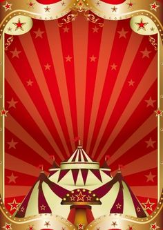 Circus Background Vectors | Vintage circus background vector graphic 01